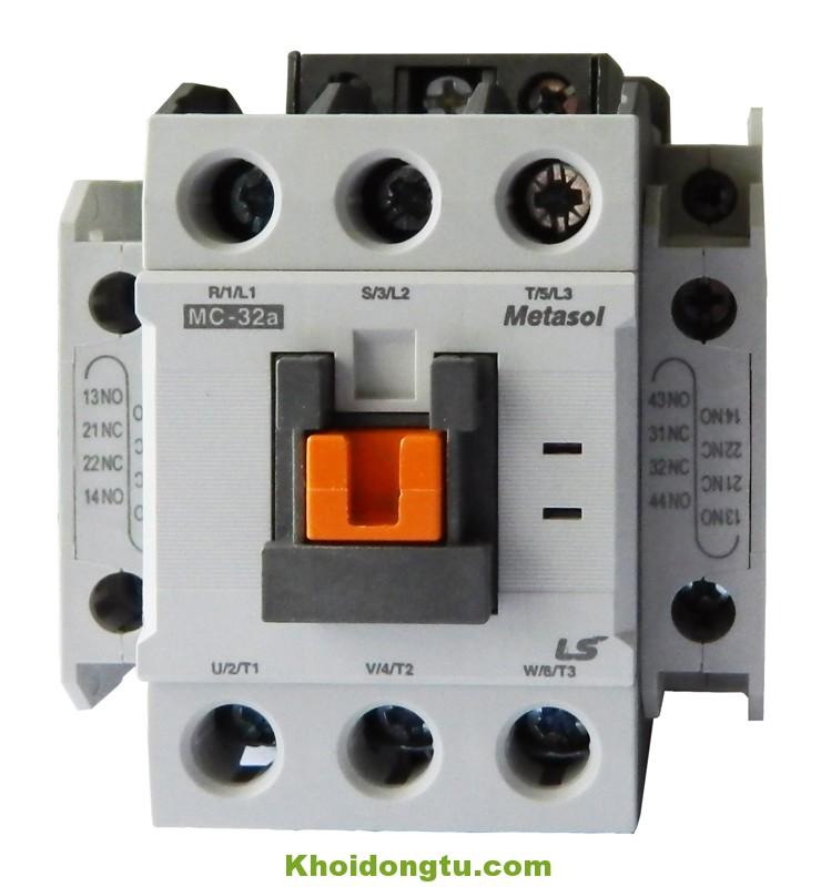 Khởi động từ Contactor LS 3P 32A 220VAC MC-32a