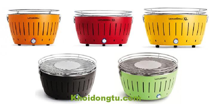 Các màu của Bếp Nướng Than Hoa BN02