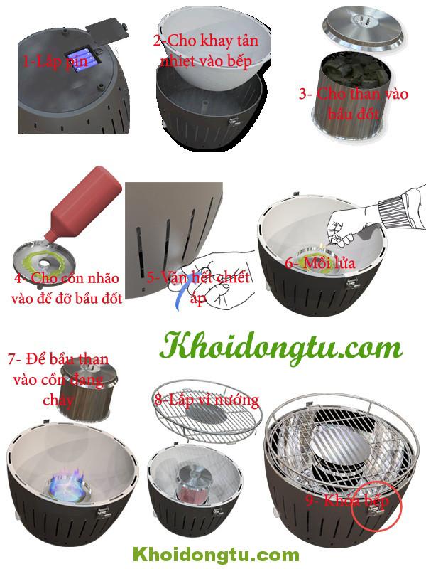 Hướng dẫn các bước sử dụng bếp Nướng Than Hoa LG435